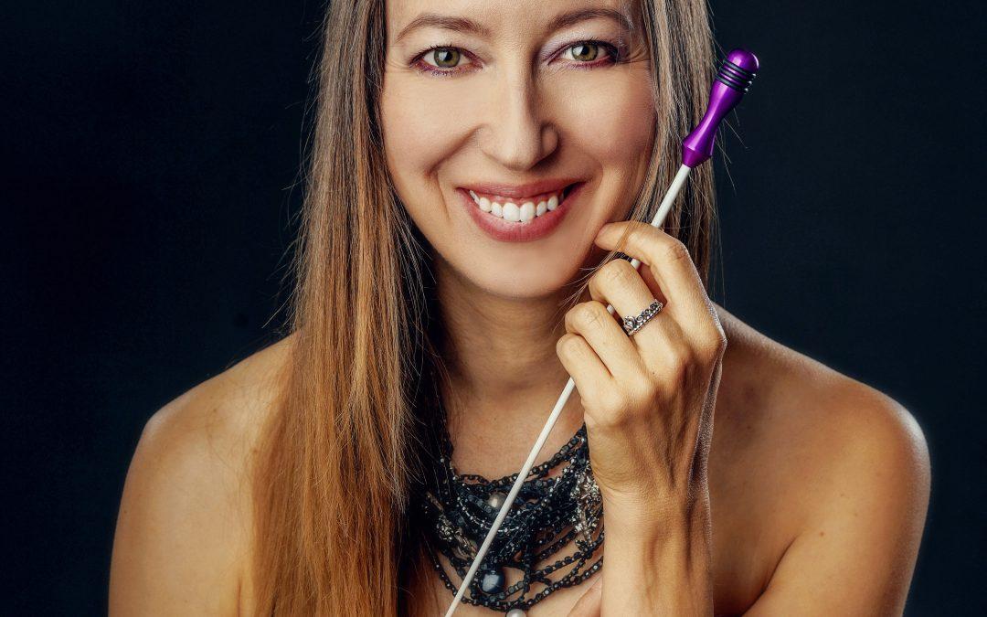 Mélanie Léonard, cheffe d'orchestre